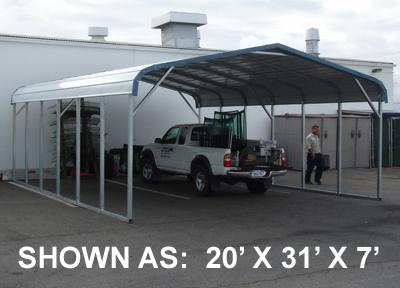 20' x 21' Standard Carport - $1095.00